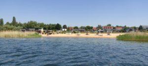Strand Mühlbeck vom Paddelboard