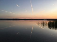 Ferienpark Goitzsche Camping. Romantischer Sonnenuntergang.