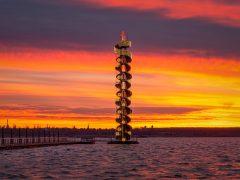 Pegelturm Goitzsche - Kerze Adventszeit 2020