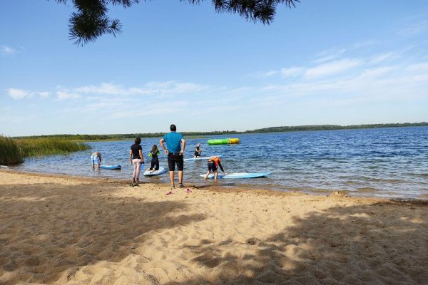 SUP mit Lehrer auf dem See