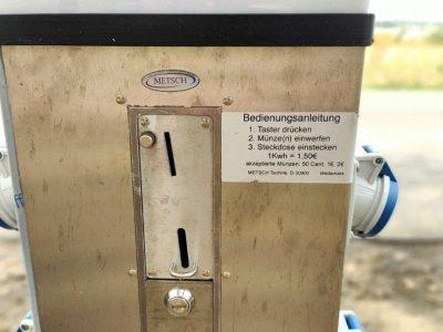 WoMo Stellplatz Pouch - Stromautomat