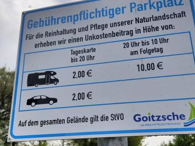 Wohnmobil Stellplatz Halbinsel Pouch - Preistafel